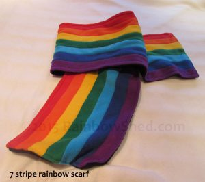 7 stripe rainbow scarf