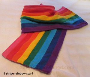 8 stripe rainbow scarf