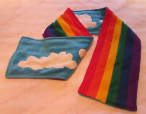 6 stripe Pride rainbow kawaii polar fleece scarf