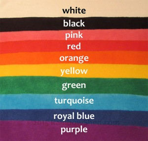 Plain anti-pill polar fleece colours