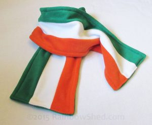 Irish Flag scarf by RainbowShed
