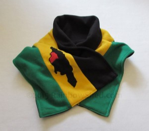 Jamaican Parish Map scarf